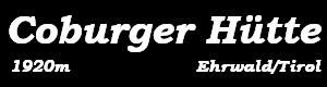 Coburger Hütte Logo
