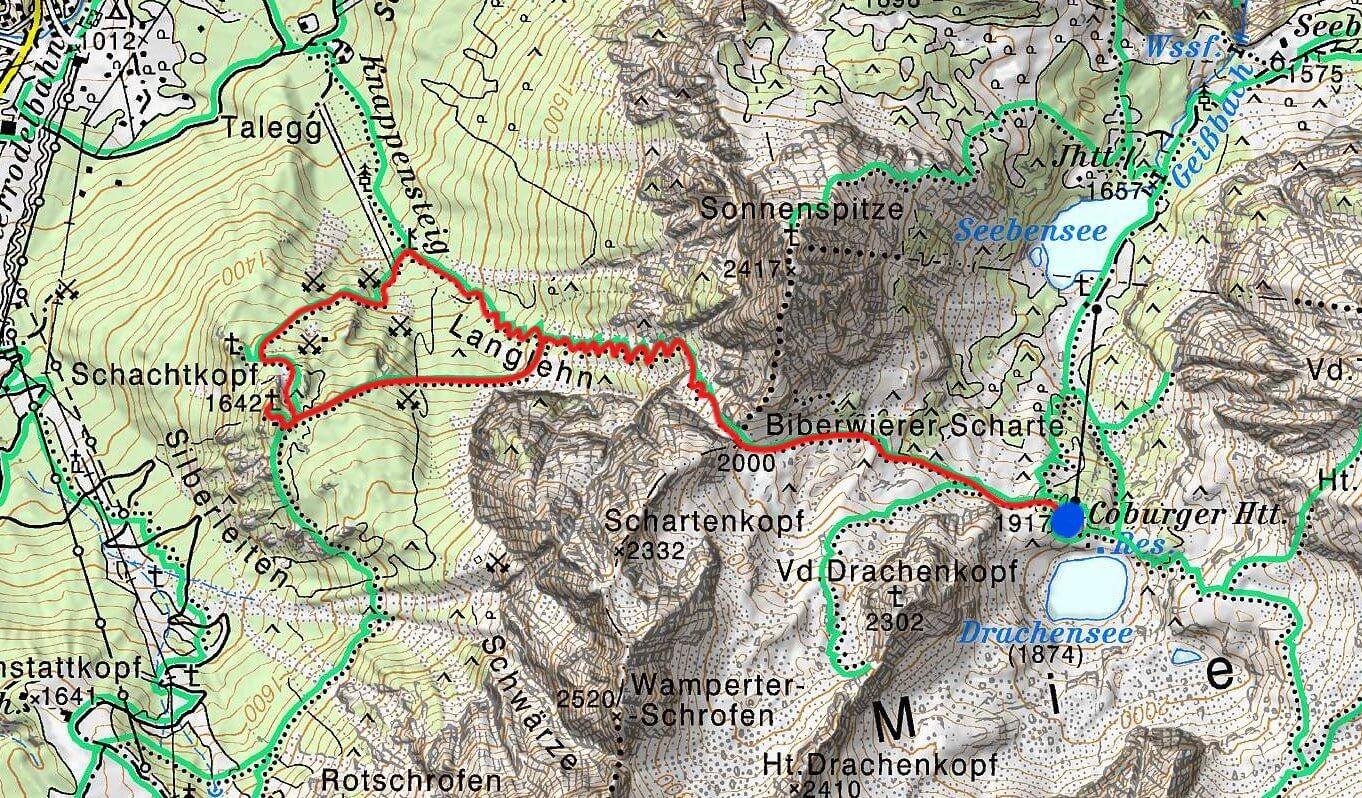 Schachtkopf Coburger Hütte Tirol Ehrwald